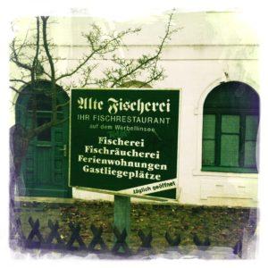 Werbung für die Alte Fischerei in Altenhof - Brandenburg
