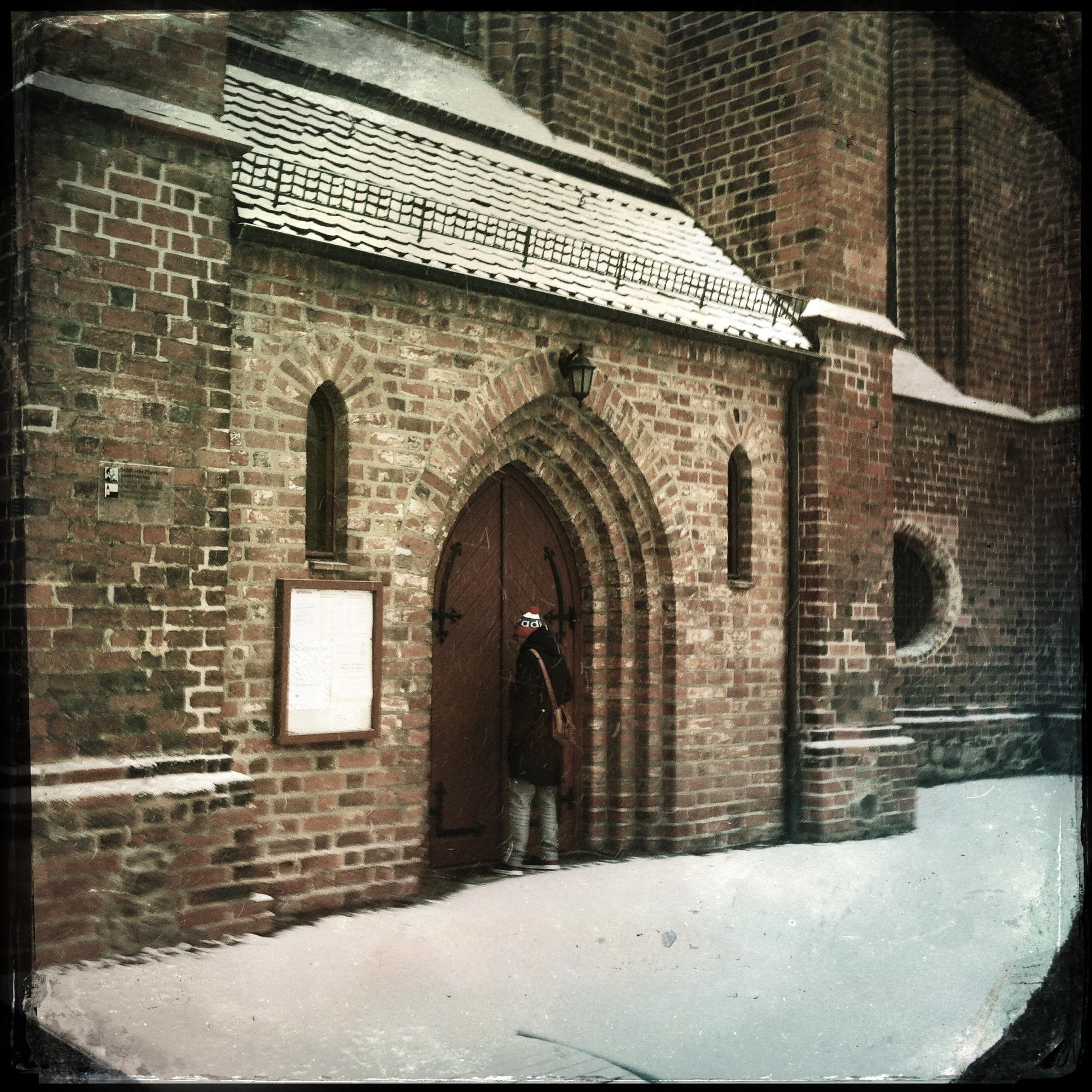 Brandenburg Beeskow l Eingang zur Marienkirche