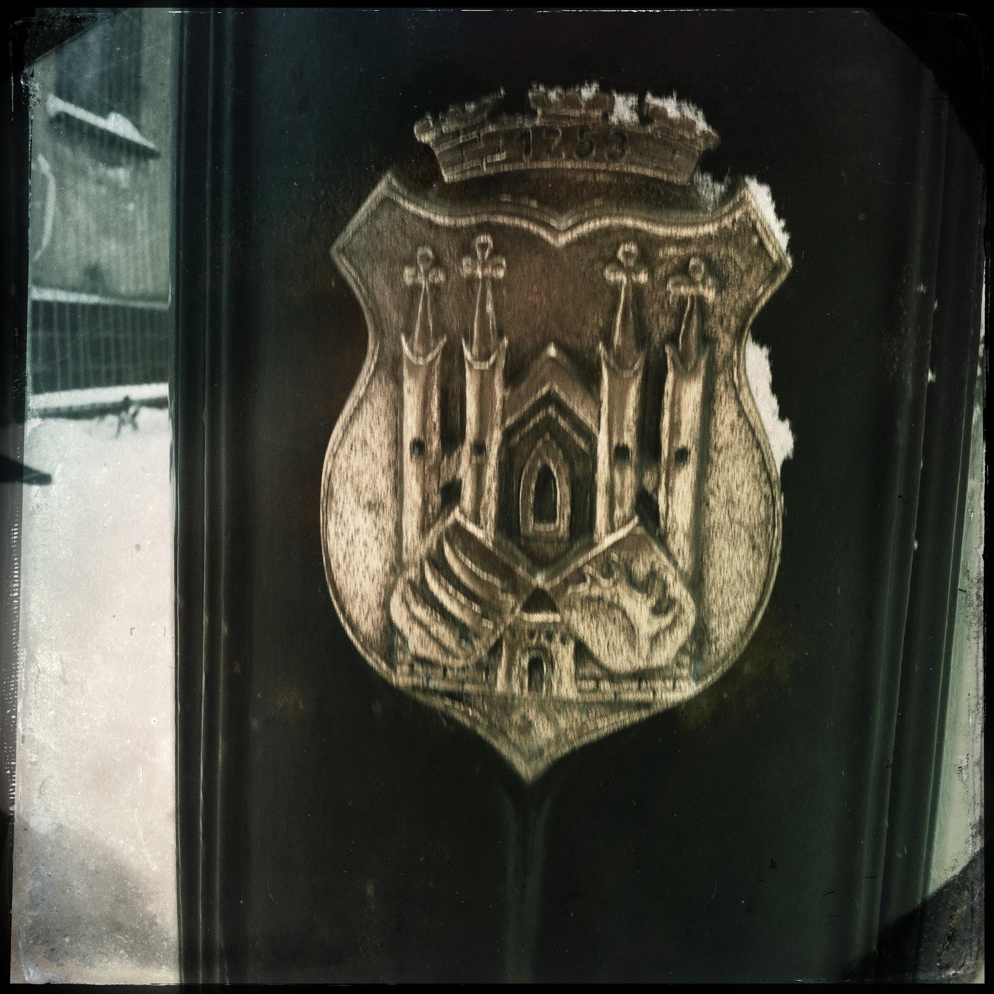 Brandenburg Beeskow l Straßenlaternen Wappen