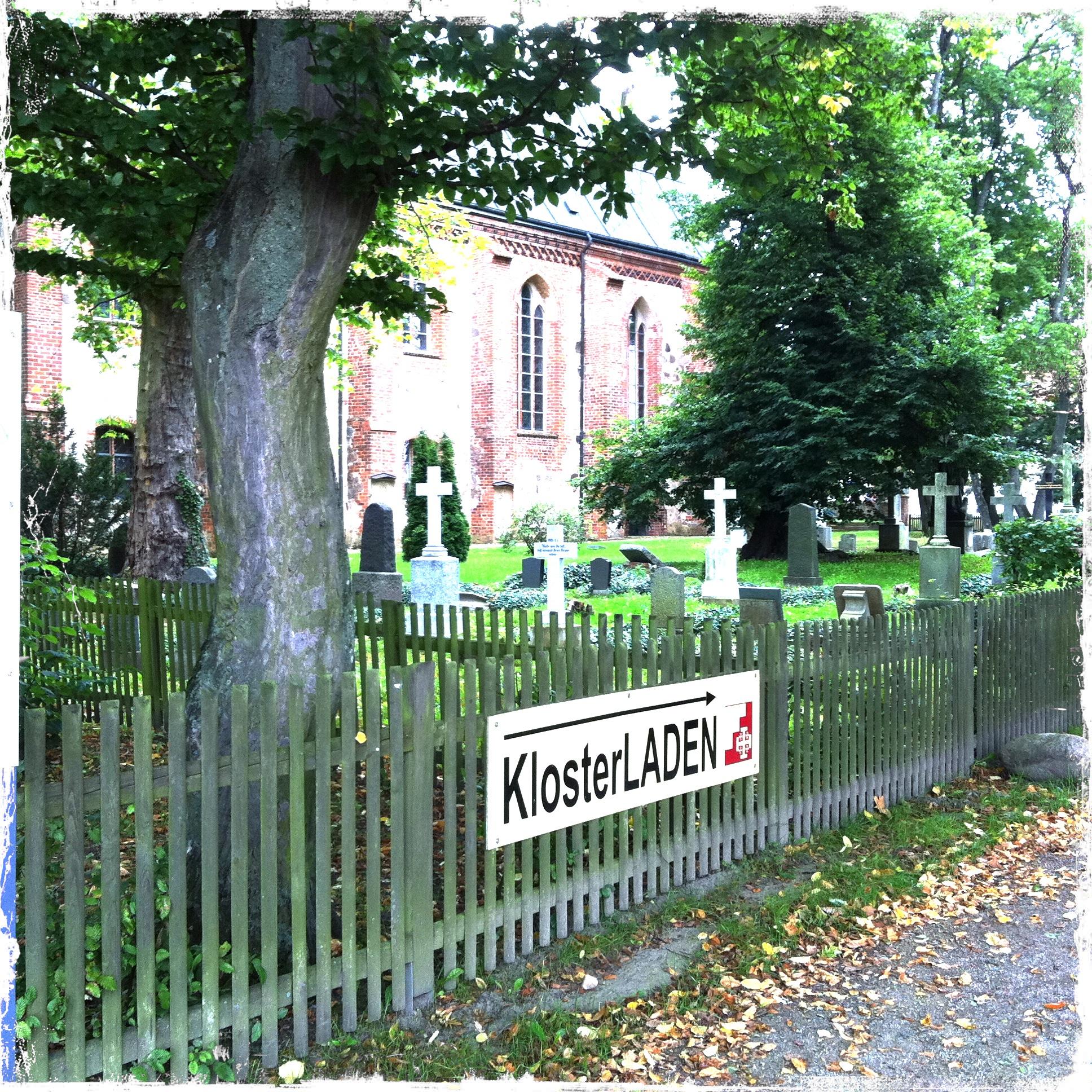 Brandenburg Kloster Stift zum Heiligengrabe I Hinweisschild Hofladen