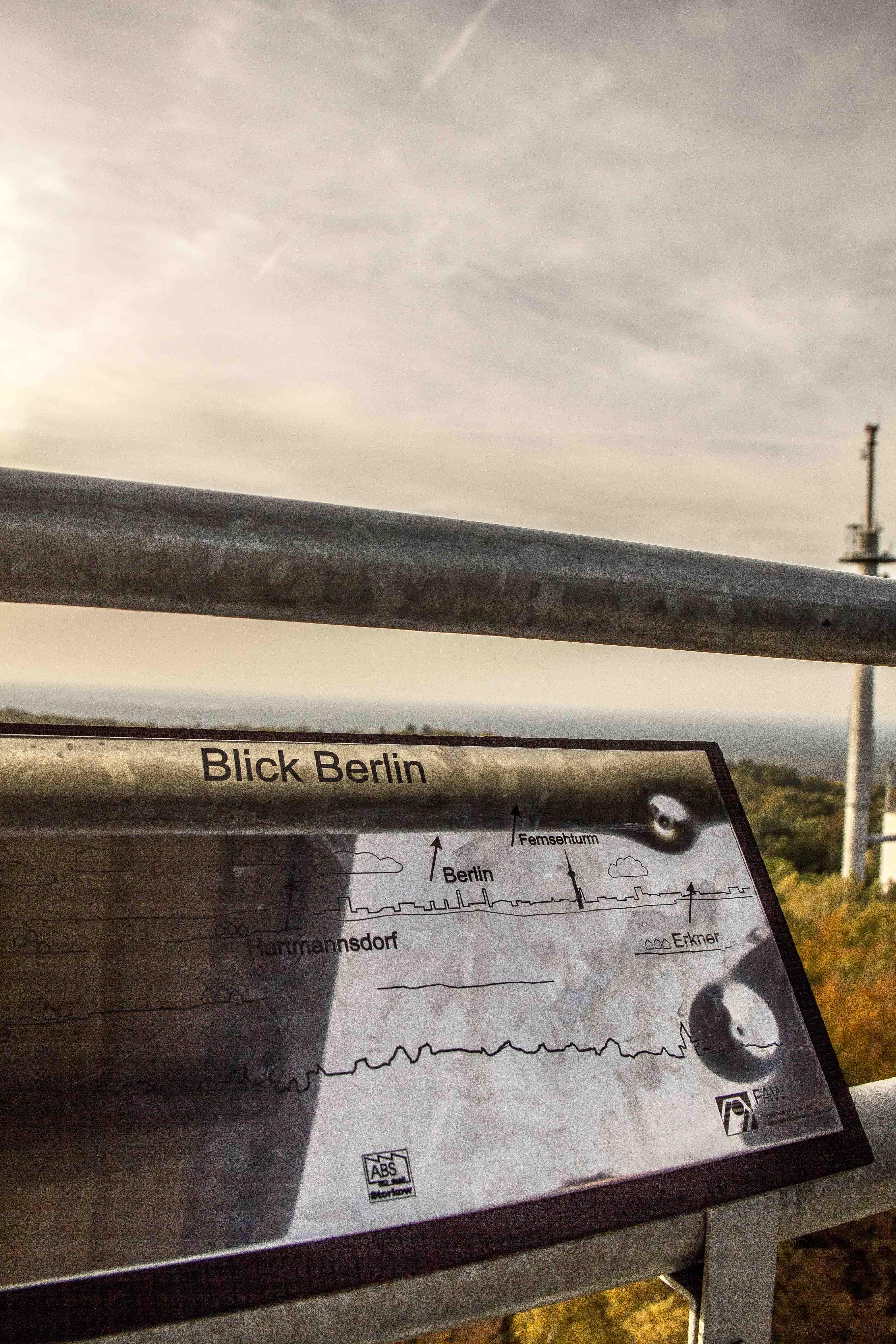 Brandenburg Rauen l Rauener Berge Aussicht Richtung Berlin