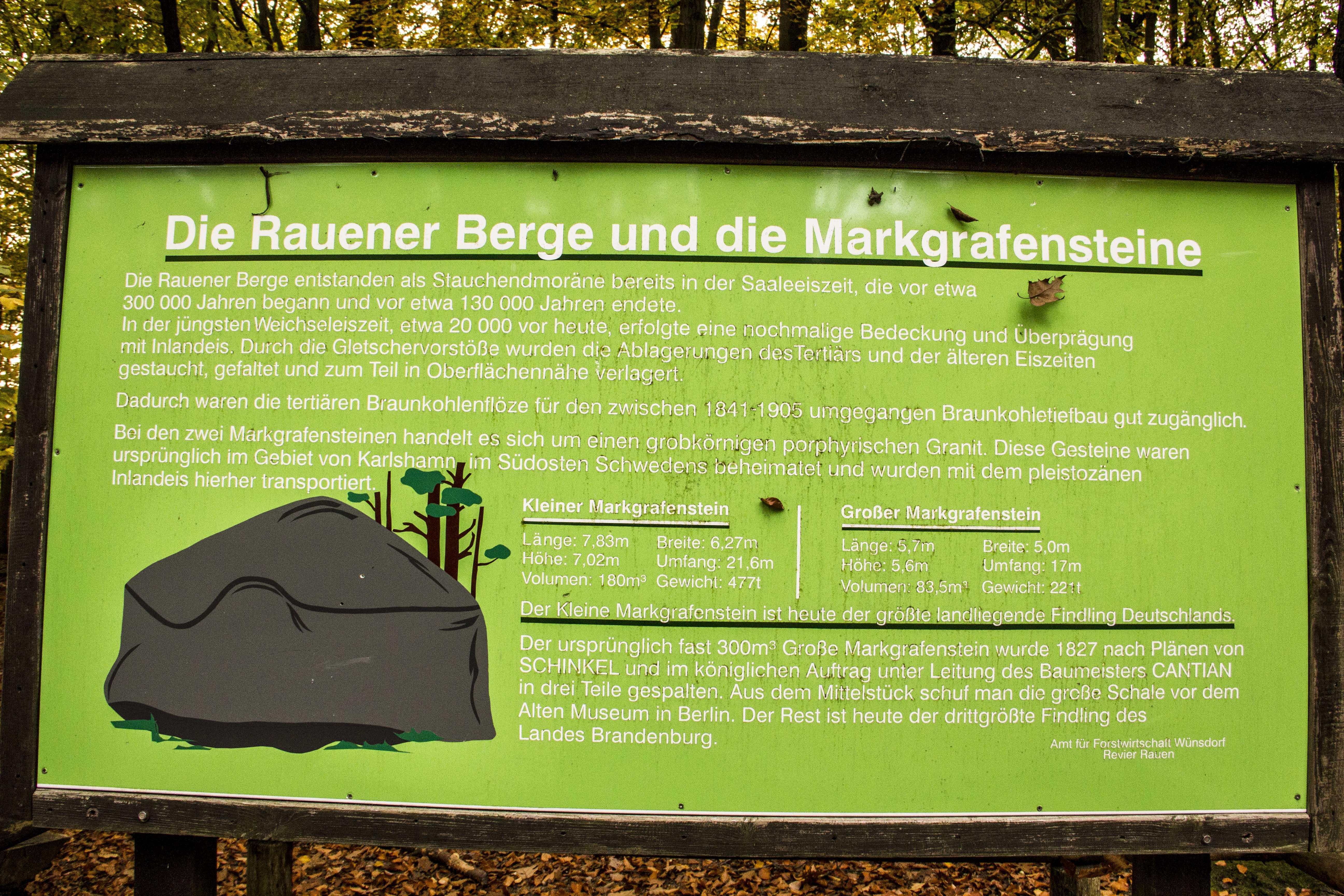 Brandenburg Rauen l Rauener Berge Übersicht Markgrafensteine