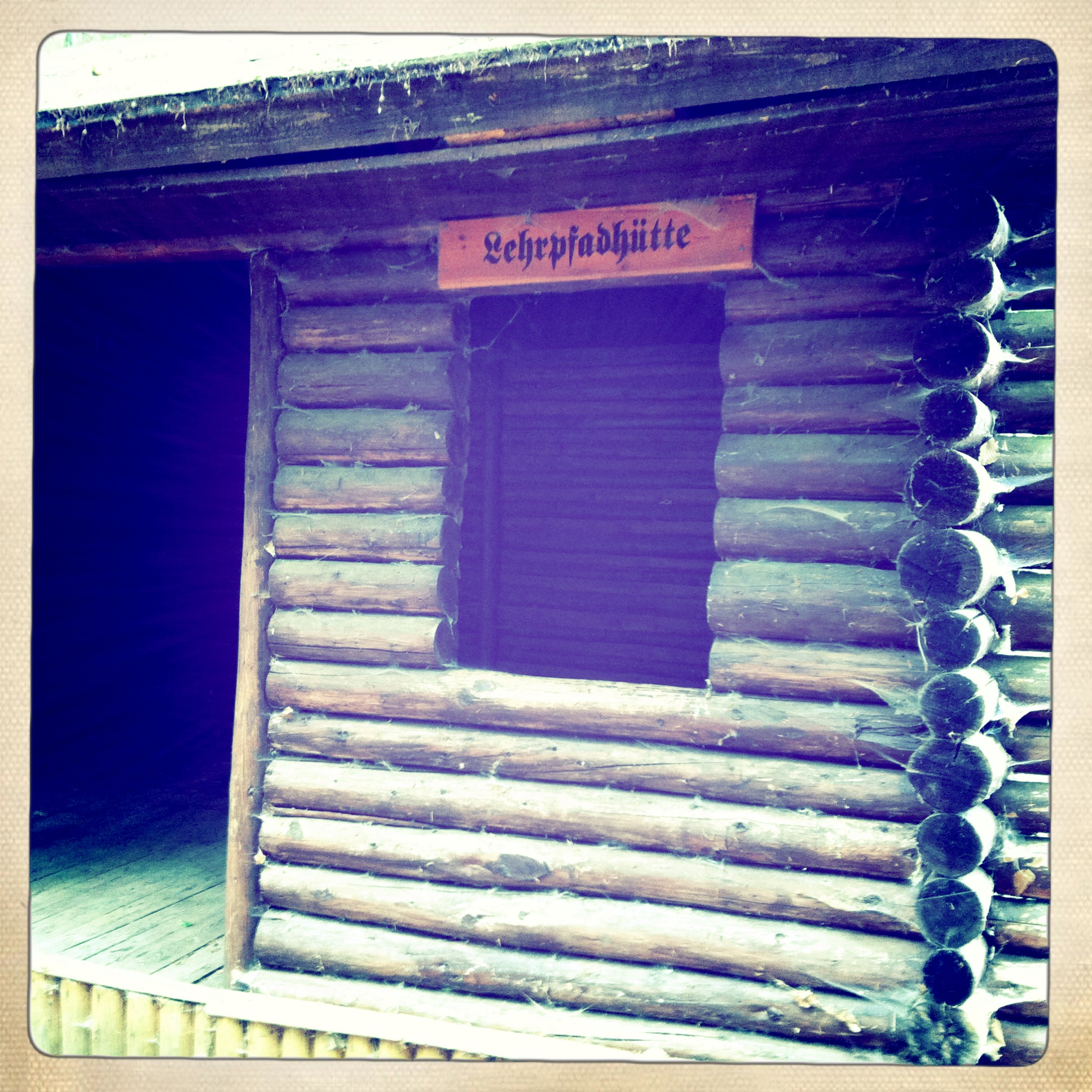 Brandenburg Sonnenburg Baa-See - Hütte im Wald