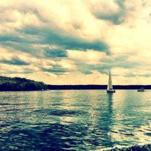 Segelboot auf dem brandenburger Werbellinsee