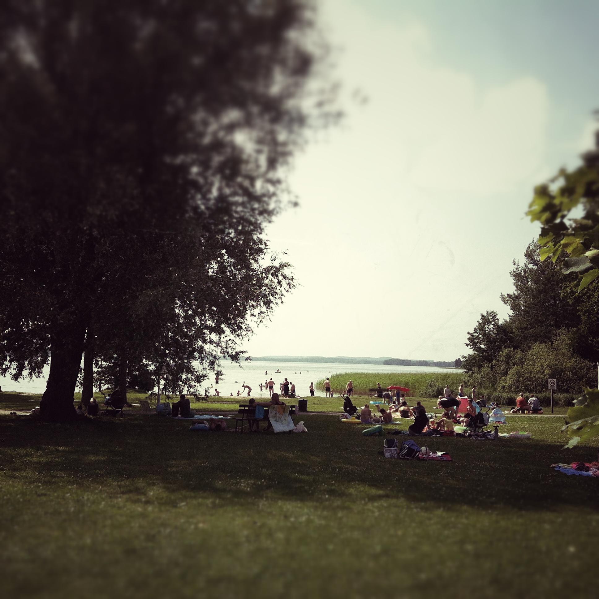 Brandenburg Parsteiner See Badestelle